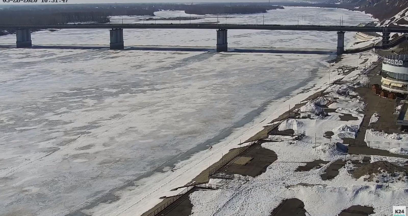 Прямая трансляция: ледоход в Барнауле 2020